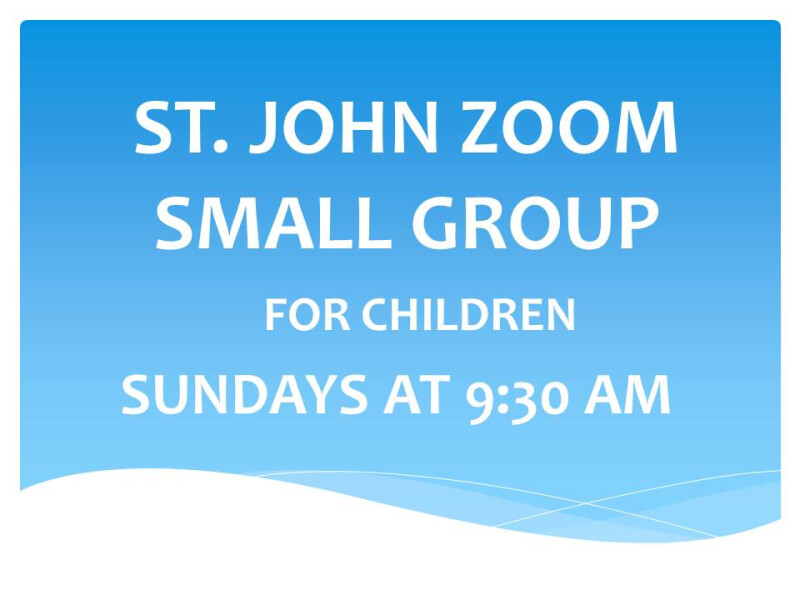 ZOOM CHILDREN'S SMALL GROUP