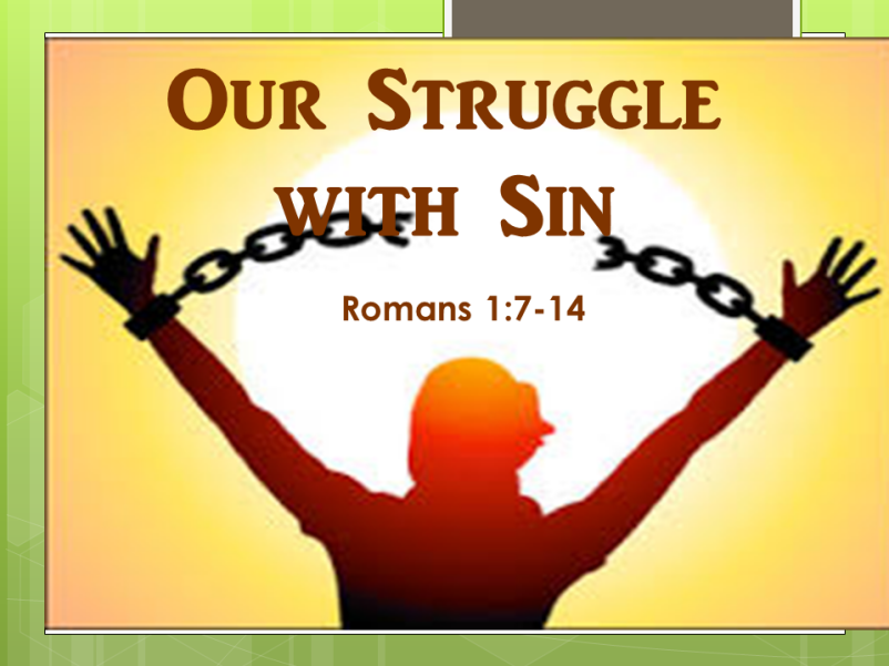 Our Struggle With Sin